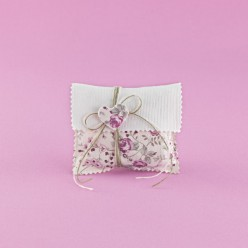 Φακελάκι από Εκρού και Φλοράλ Ύφασμα για Μπομπονιέρα Γάμου
