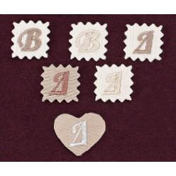 Διακοσμητική Καρδιά και Μπάλωμα με Κεντημένο Μονόγραμμα
