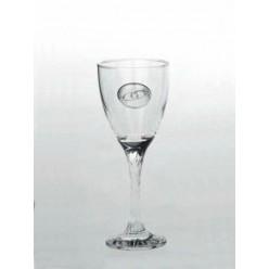 Κρυστάλλινο ποτήρι κρασιού με επάργυρο διακοσμητικό