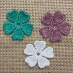 Πλεκτά Χρωματιστά Λουλουδάκια Νο1