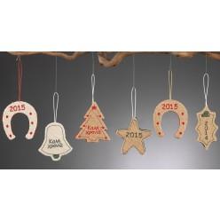 Χριστουγεννιάτικα Κρεμαστά Στολίδια από Λινάτσα και Τσόχα