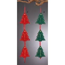 Χριστουγεννιάτικες Γιρλάντες με Τρία Δεντράκια