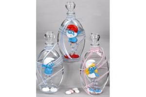 Μπουκάλι λαδιού για βάπτιση με τα Στρουμφάκια
