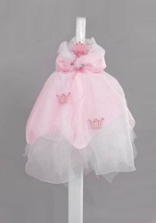 Βαπτιστική λαμπάδα με θέμα το στέμμα πριγκίπισσας