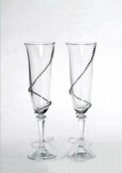Κρυστάλλινα ποτήρια σαμπάνιας με στρας