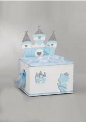 Βαπτιστικό ξύλινο κουτί με θέμα το κάστρο