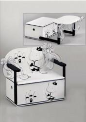 Ξύλινο βαπτιστικό κουτί με θέμα τον πρίγκιπα