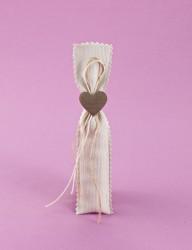 Μπομπονιέρα Γάμου Πουγκί Μικρό Πικέ με Καρδιά