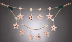 Χριστουγεννιάτικη Γιρλάντα Καλή Χρονιά με Αστεράκια
