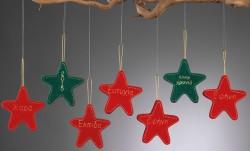 Χριστουγεννιάτικα Κρεμαστά Αστερια με Κέντημα