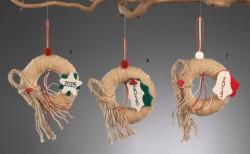 Χριστουγεννιάτικο Στεφανάκι για Διακοσμητικό Δέντρου