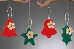 Χριστουγεννιάτικα Κρεμαστά Στολίδια από Τσοχα