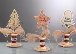 Επιτραπέζια Χριστουγεννιάτικα Στολίδια με Κεντημα