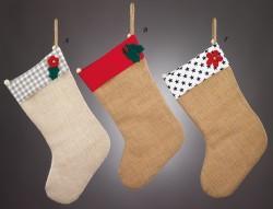 Χριστουγεννιάτικες Κάλτσες με Διακοσμητικά από Τσόχα