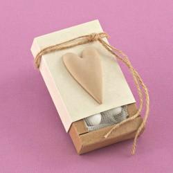 Κράφτ Κουτάκι με Ακρυλική Καρδιά για Μπομπονιέρα Γάμου