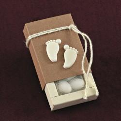 Κράφτ Κουτάκι με Ακρυλικές Αρωματικές Πατουσίτσες για Μπομπονιέρα Βάπτισης