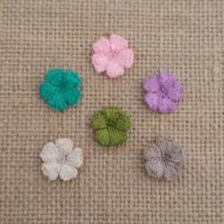 Πλεκτά Χρωματιστά Λουλουδάκια Νο5