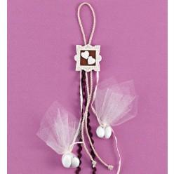 Κρεμαστή Κορνίζα Ακρυλική με Διακόσμηση Καρδούλες για Μπομπονιέρα Γάμου