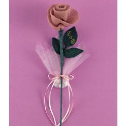 Μπομπονιέρα Γάμου Τριαντάφυλλο Γάζα Σάπιο Μήλο