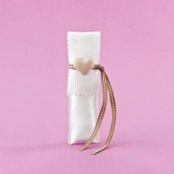 Μακρόστενος Φάκελος με Διακοσμητική Ακρυλική Καρδιά για Μπομπονιέρα Γάμου