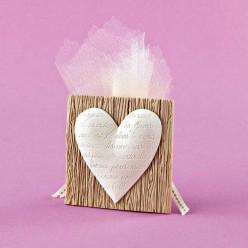 Μπομπονιέρα Γάμου Αρωματική Κορνίζα με Καρδιά