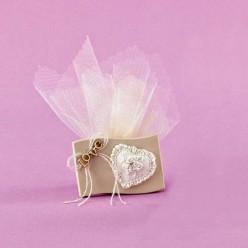 Ακρυλική Κορνίζα με Καρδιά και Love για Μπομπονιέρα Γάμου