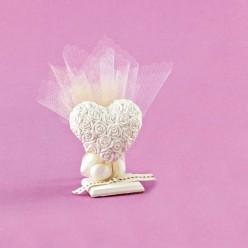Επιτραπέζιο Διακοσμητικό με Καρδιά για Μπομπονιέρα Γάμου