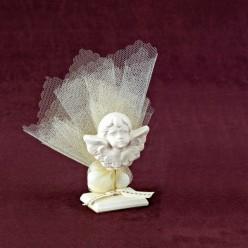 Επιτραπέζιο Διακοσμητικό με Αγγελάκι για Μπομπονιέρα Γάμου
