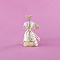 Επιτραπέζιο με Αρωματικές Καρδιές και Βάση με Love για Μπομπονιέρα Γάμου