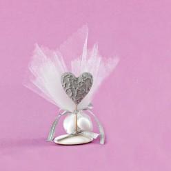 Επιτραπέζιο Διακοσμητικό Ακρυλικό με Καρδιά για Μπομπονιέρα Γάμου