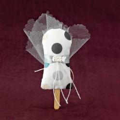 Βαπτιστική Μπομπονιέρα Παγωτό Ξυλάκι με Μεγάλο Πουά