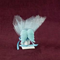 Μπομπονιέρα Βάπτισης Επιτραπέζιο Διακοσμητικό με Φτερά Αγγέλου