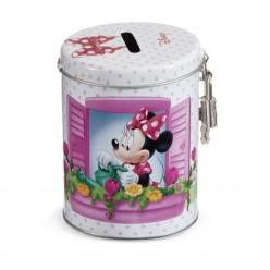 Μεταλλικός Κουμπαράς της Disney με την Minnie για Μπομπονιέρα Βάπτισης