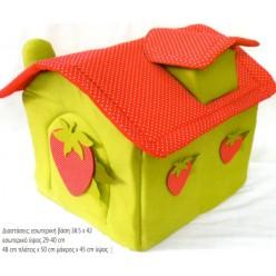 Βαπτιστικό Κουτί Πάνινο Σπιτάκι