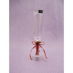 Στολισμένο ποτήρι σαμπάνιας από κρύσταλλο Βοημίας