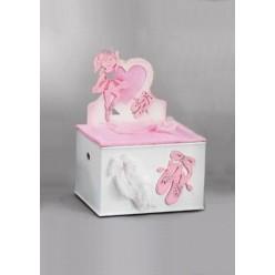 Βαπτιστικό ξύλινο κουτί με θέμα την μπαλαρίνα