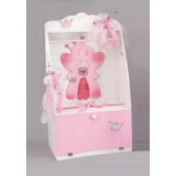 Βαπτιστικό ξύλινο κουτί με θέμα την πριγκίπισσα