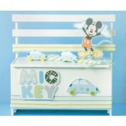 Ξύλινο Παγκάκι της Disney με τον Mickey