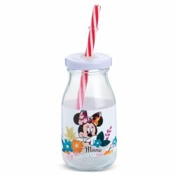Γυάλινο Μπουκάλι Minnie Mouse για Μπομπονιέρα Βάπτισης